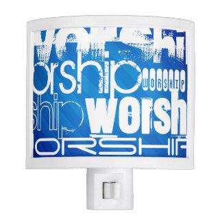 Worship; Royal Blue Stripes Night Lite