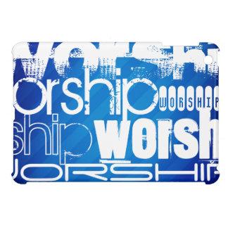 Worship; Royal Blue Stripes iPad Mini Case