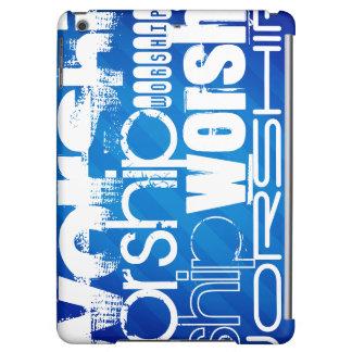 Worship; Royal Blue Stripes iPad Air Covers