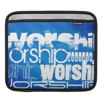 Worship; Royal Blue Stripes iPad Sleeve