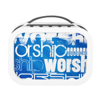 Worship; Royal Blue Stripes Yubo Lunch Box
