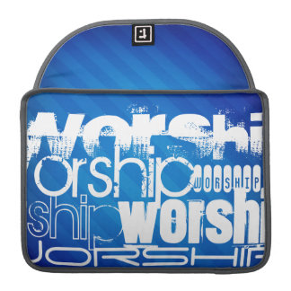 Worship; Royal Blue Stripes Sleeves For MacBook Pro