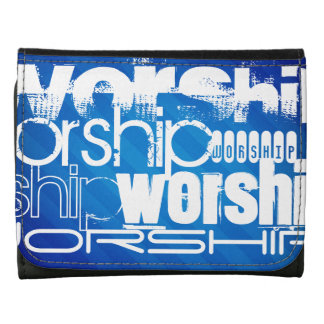 Worship; Royal Blue Stripes Wallets