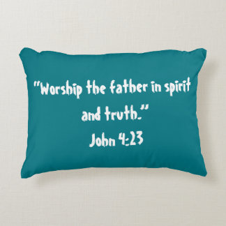 """Worship"" Scripture Pillow"