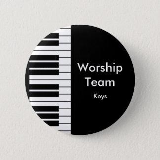 Worship Team, Keys badge Pinback Button