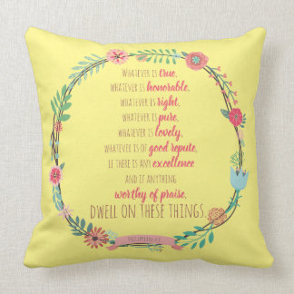 Worship with word Bible Verse Throw Pillow