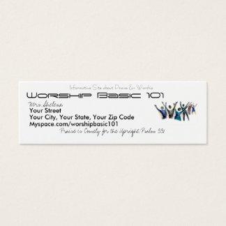 WorshipBasic101.Com Mini Business Card