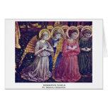Worshipers Angels By Gozzoli Benozzo Greeting Card
