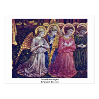 Worshipers Angels By Gozzoli Benozzo Post Cards