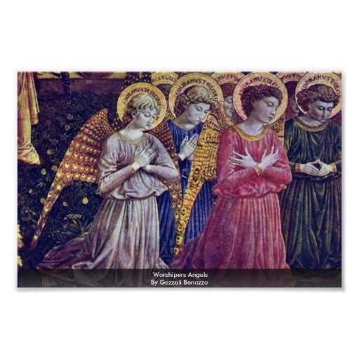 Worshipers Angels By Gozzoli Benozzo Poster