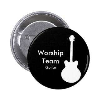 WorshipTeam, Guitar Badge Pinback Button