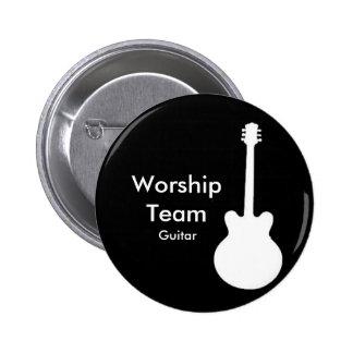 WorshipTeam, insignia de la guitarra Pin Redondo De 2 Pulgadas