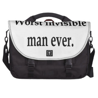 Worst invisible man ever. computer bag