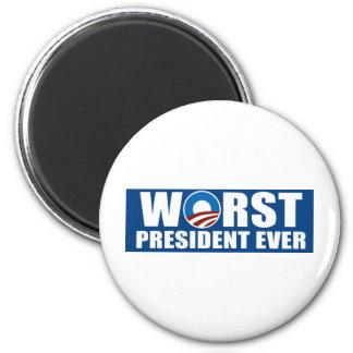 Worst President Ever 2 Inch Round Magnet