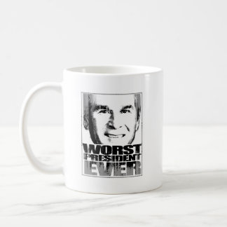 Worst President Ever Faded.png Classic White Coffee Mug