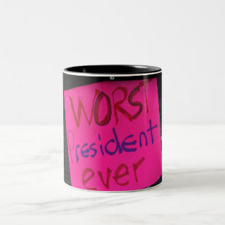 Worst President Ever Two-Tone Coffee Mug