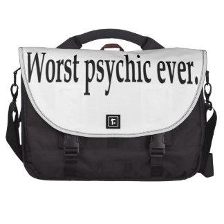 Worst psychic ever. laptop computer bag