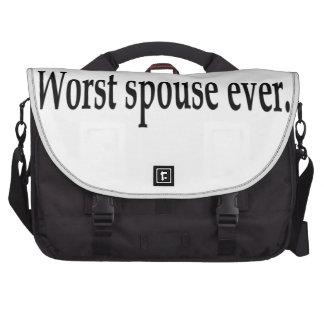 Worst spouse ever. laptop commuter bag
