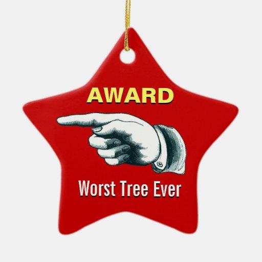 Worst Tree Ever Award Christmas Ornaments Zazzle
