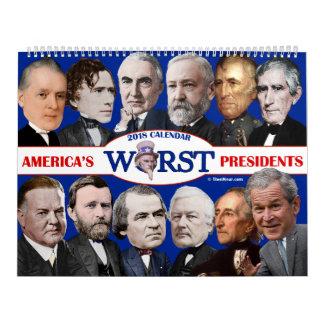 Worst U.S. Presidents Calendar 2018