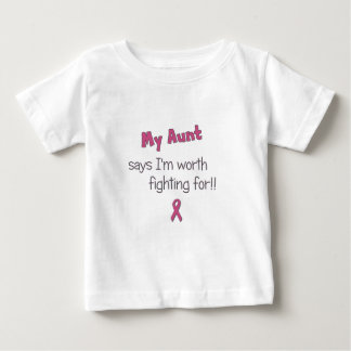 Worth Fighting For - Aunt - Breast Cancer Shirt