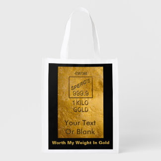 Worth My Weight In Gold Reusable Grocery Bag