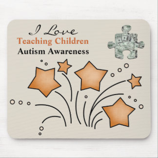 """Worth  the Cost"" Autism Awareness Mousepad"