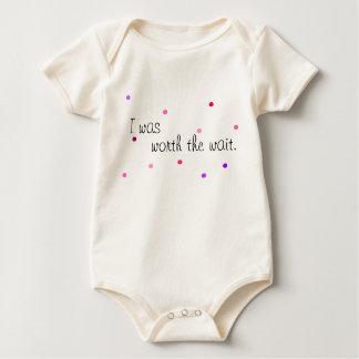 Worth the wait - baby bodysuit