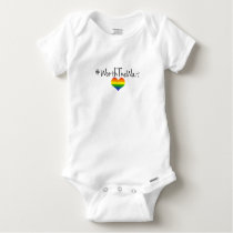 Worth The Wait Baby Onsie with Rainbow Heart Baby Onesie