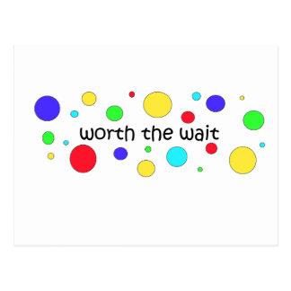 Worth the Wait Circles Postcard