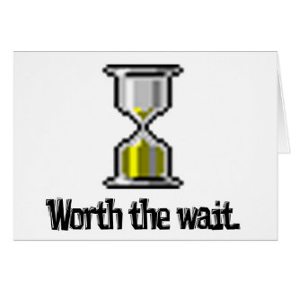 worth the wait pc hourglass icon card