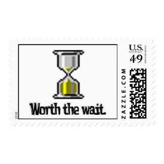 worth the wait pc hourglass icon postage