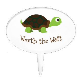 Worth The Wait Turtle Cake Topper