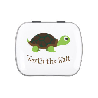 Worth The Wait Turtle Jelly Belly Candy Tins