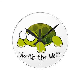 Worth the wait - turtle round clock
