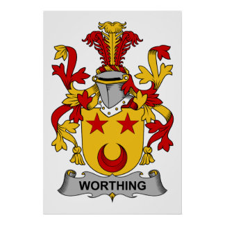 Worthing Family Crest Posters
