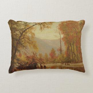 Worthington Whittredge - Autumn on the Delaware Decorative Pillow
