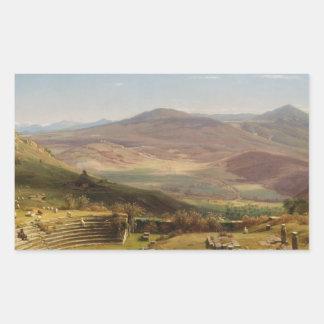Worthington Whittredge - The Amphitheatre Rectangular Sticker
