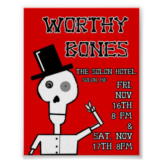 Worthy Bones Solon Hotel Poster