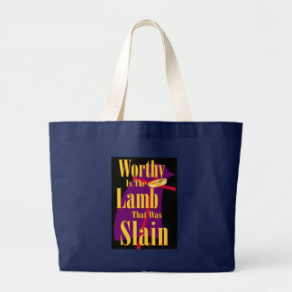 Worthy is the Lamb Large Tote Bag