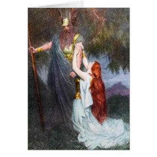 Wotan y Brunilda Notecard