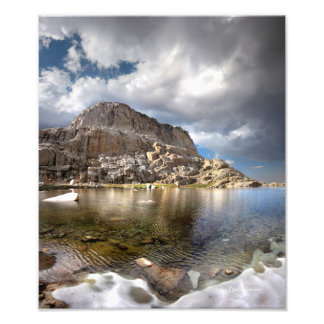 Wotans Throne Over Trail Camp Lake 2 - Mt Whitney Photo Art