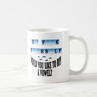 Woul you like to buy a vowel? coffee mug