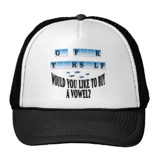 Woul you like to buy a vowel? trucker hat