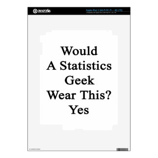 Would A Statistics Geek Wear This Yes iPad 3 Decal