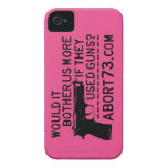 Would it Bother Us More if They Used Guns? Abort73 iPhone 4 Cover