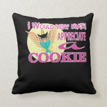Would Much Appreciate Owl Unicorn Cookie Throw Pillow
