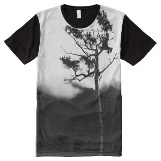 Would Rather Be Aloof/Lone Tree Photographic Art All-Over-Print Shirt