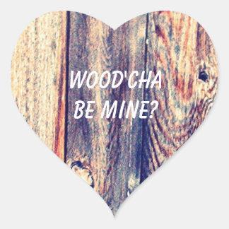 Would You Be Mine Heart Sticker   Wood'Cha