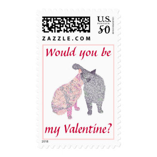 Would You Be My Valentine, Kissing Cats, Stamps